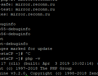 Обновление PHP на сервере geek-speak.ru